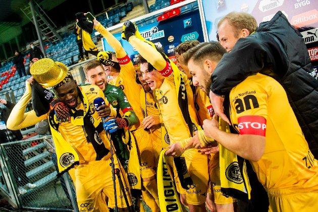 Fotballklubben Bodø/Glimt er kåret til Årets Nordlending 2020. Foto: Fredrik Varfjell