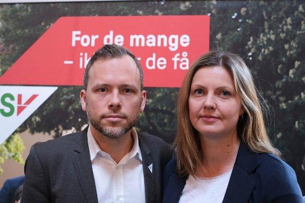 Audun Lysbakkken og Synnøve Pettersen fra SV