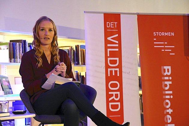 Det Vilde Ord: Den svenske forfatteren Stina Jackson er en av mange forfattere som er blitt presentert under den årlig litteraturfestivalen i Bodø, Det Vilde Ord. Foto: Privat