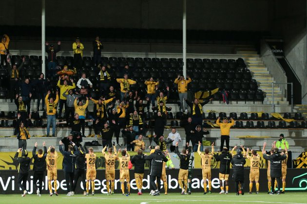 Bodø/Glimt latterliggjorde Odd og sendte tabelltreeren hjem som slakt med 6-1 i bagasjen.  Foto: Mats Torbergsen / NTB scanpix