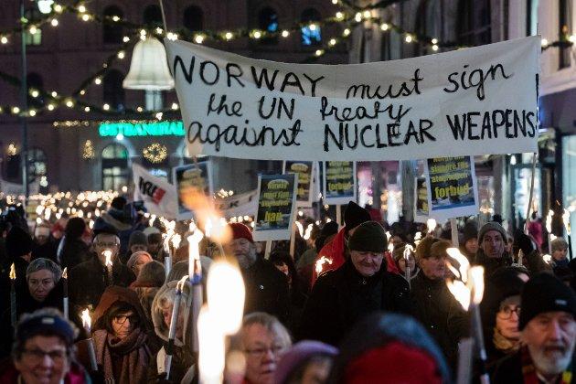 Norge må slutte seg til FNs atomvåpenforbud, mener Nei til Atomvåpen