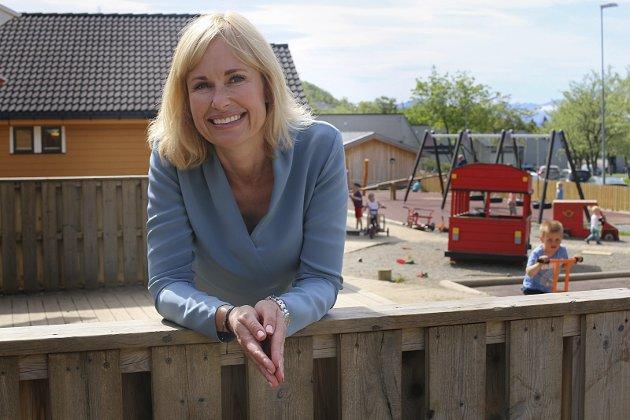Over mål: Leder for Private Barnehagers Landsforbund Anne Lindboe mener kritikken fra Manifest Tankesmie skyter over mål. Foto. PBL