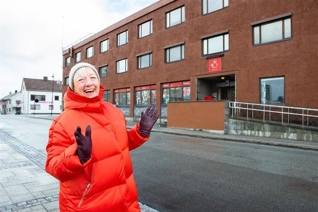 Fylkesråd Kirsti Saxi vil at Nordnorsk kunstmuseum etablerer seg i Bodø. fra september 2022, hun har allerede bestilt arkitekter for å utforme lokalene her i den gamle Postgården Foto: Thor-Wiggo Skille