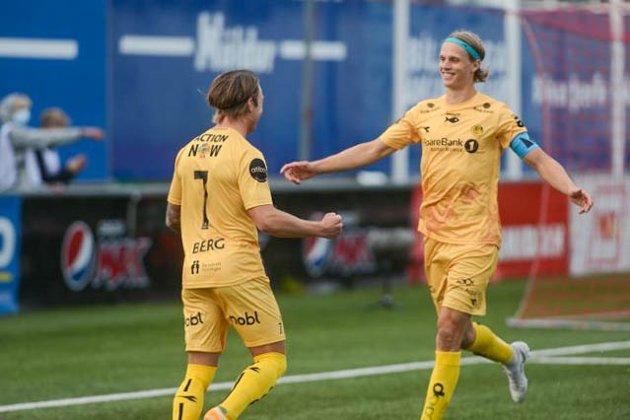 Patrick Berg og Ulrik Saltnes scoret målene da Glimt knuste Valur i kveld.