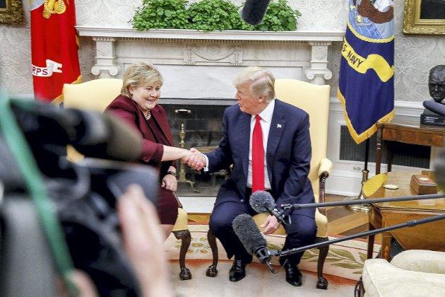 Jørund Vandvik meiner det går rette veien for Norge og verda, sjølv om Donald Trump (billedet) er president i USA.