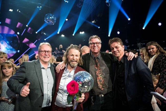 Einar Nilsson med brødrene Anders Nilsson, Gunnar Loennicken og Per-Arne Nilsson