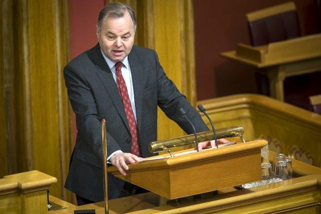 Stortingspresident Olemic Thommessen er ikke skikket til jobben sin, mener BA. ARKIVFOTO: Heiko Junge/NTB scanpix