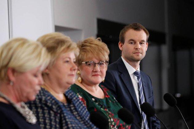 Kjell Ingolf Ropstad ledet KrF inn i regjering. Det kan bli kostbart for partiet. FOTO: NTB SCANPIX