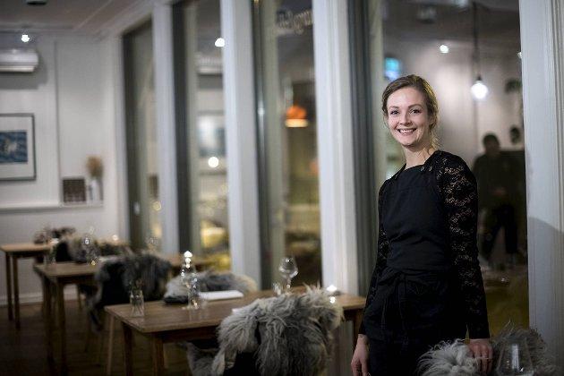 Jessica Hugøy er restaurantsjef på Marg & Bein – et av byens mange spisesteder som sliter med liten omsetning under koronakrisen.