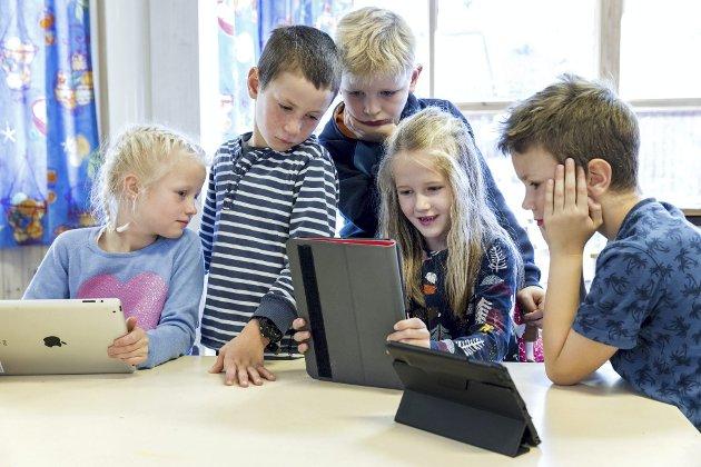 – Etter min mening bidrar ukritisk teknologibruk til å gjøre skolehverdagen mer forvirrende og uforutsigbar. Illustrasjonsfoto: Gorm Kallestad, NTB