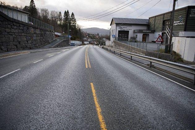 Lite trafikk også på Osvegen.