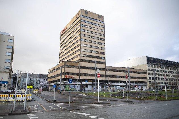 Slik har vi vore van med å sjå fylkesbygget på Vestre Strømkai. Dette bildet er tatt i oktober 2018.