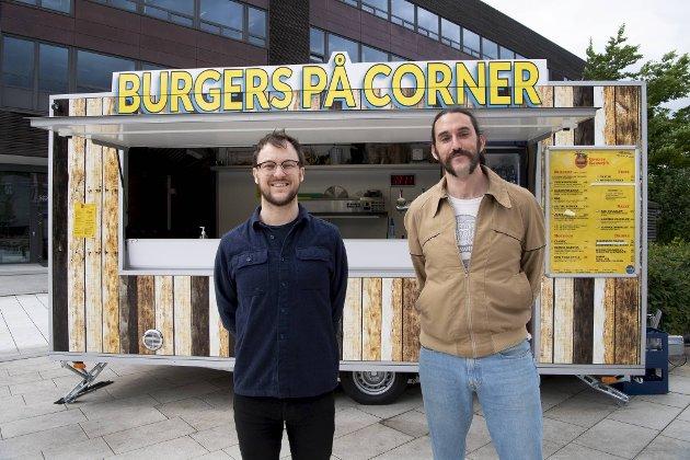 Thomas Digervold blir nå daglig leder på Cornerteateret på Møhlenpris. Rhys Brennan er mannen bak matkonseptet med en egen burgervogn.