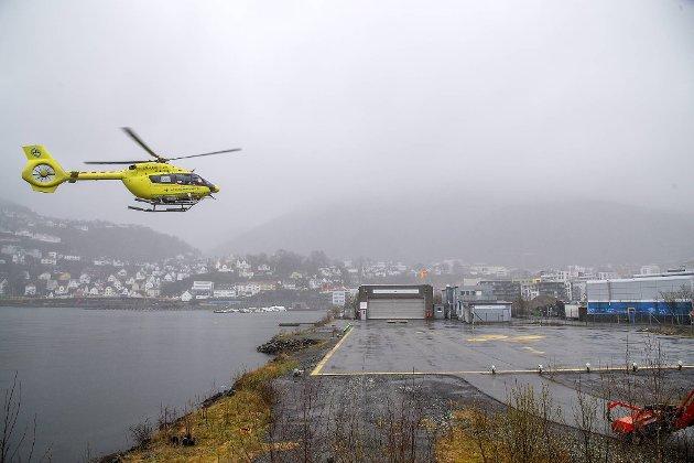 Helikopterbasen på Grønneviksøren i Møllendalsveien må flyttes.