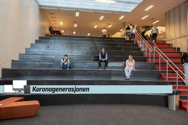 BA følger en klasse på Nordahl Grieg videregående skole. Her er tre av elevene som har begynt å fortelle om sine opplevelser av pandemiåret 2020. Alexandra Tangerås, Henrik Skuterud Mohn og Jonas Nordeide.