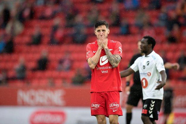 Brann-kaptein Daniel Pedersen har blitt ofret i de siste kampene når Brann har jaktet seier.