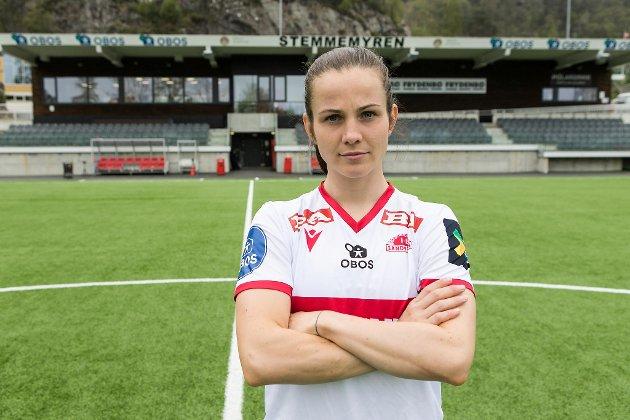 Kaptein Tuva Hansen må sørge for at alle på laget er skjerpet mot Stabæk.