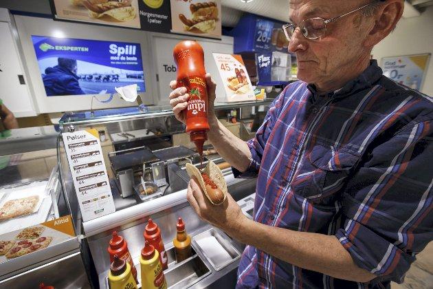 – Det er nesten uforståelig for barnebarna at noe levende menneske kan være eldre enn Idun ketchup, men slik er det altså. Jeg ble født året før Idun startet sin produksjon. ILLUSTRASJONSFOTO: HEIKO JUNGE, NTB