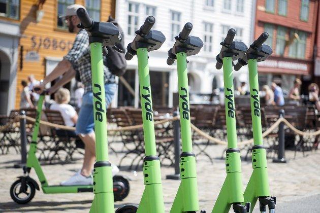 Løperhjul er kategorisert som sykler, og kan brukes på fortau.  Illustrasjonsfoto.