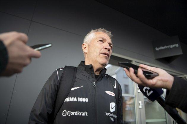 Brann-trener Kåre Ingebrigtsen hadde mye å svare for etter fire poeng etter ti kamper.