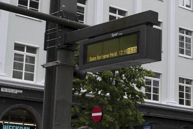 Lystavlen fortalte at det gikk buss for bybane, men ikke fra hvor!