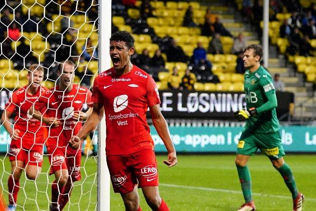 Japhet Sery Larsen kan fort bli en kjæledegge for Brann-fansen om han fortsetter som mot Lillestrøm sist.