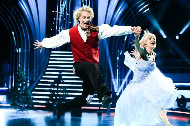 Eilev Bjerkerud og Nadya Khamitskaya i Skal vi danse på TV2, 2016.