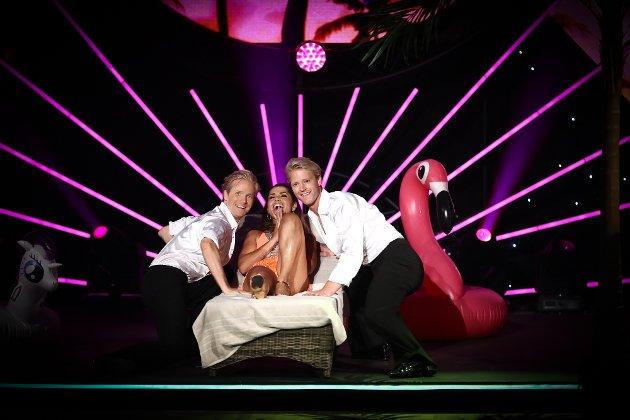 Skal vi danse - 2017. Fredric Brunberg (f.v.), Jorun Stiansen og Eilev Bjerkerud.