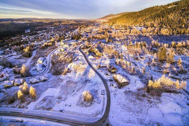 Det har vært, og er fortsatt, høy byggeaktivitet i Melumenga. Illustrasjonsfoto: Modum kommune