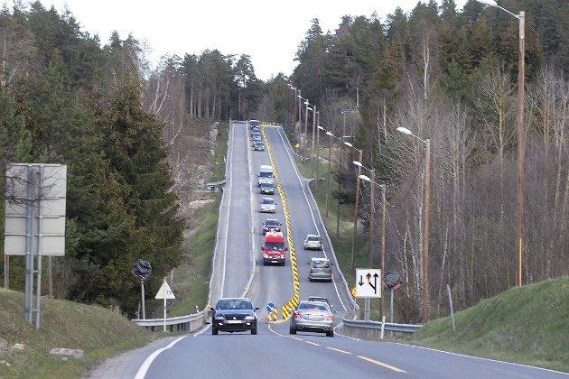 Et tilbakevendende tema: riksvei 35 mellom Hokksund og Åmot.