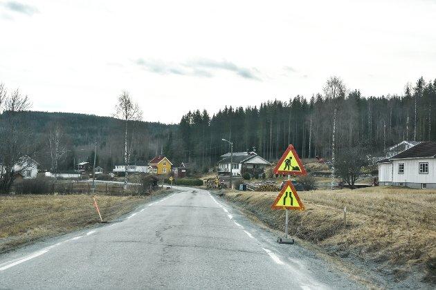 Midtfylkets dårligste vei. Fylkesvei 192 mellom Noresund og Fv 191 på Krøderen.