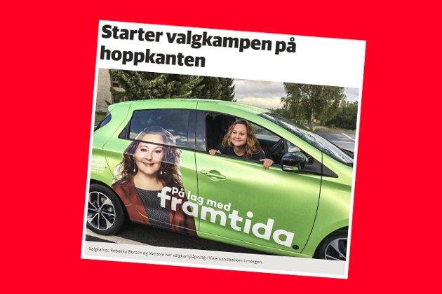 Skjermdump fra bygdeposten.no 11. august 2017.