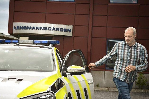 Ole Haraldseth jobber til daglig ved Modum lensmannskontor. Han har også har vært tillitsvalgt i politiet i en årrekke. Arkivfoto: Stig Odenrud