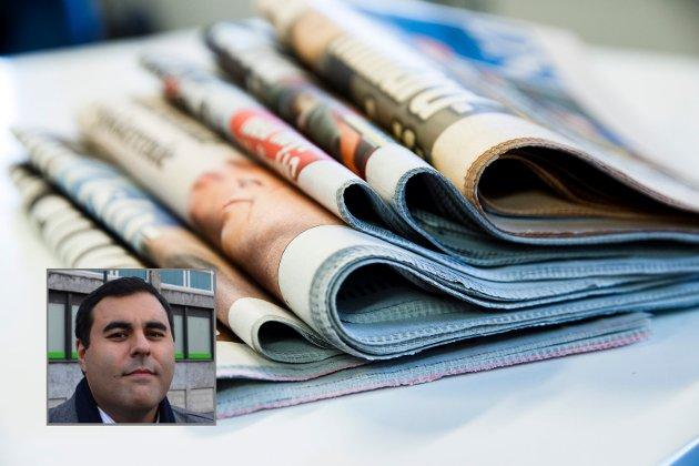 Masud Gharahkhani skrivom medier og pressestøtte.