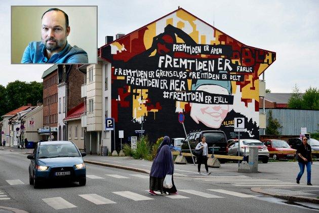 Spaltist Sven Ove Bakke skriver om gatekunsten i Drammen.