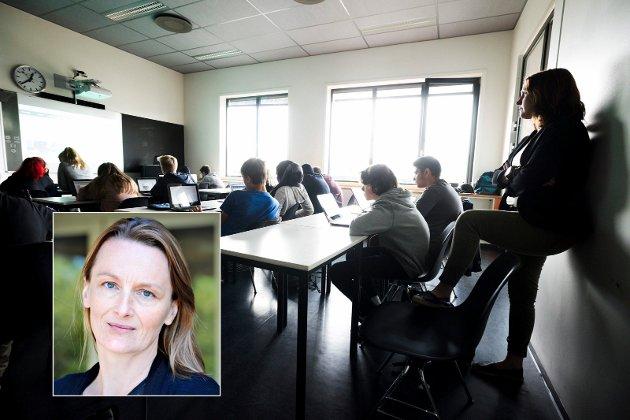 TID OG ROM: Kristin Husdal er lærer ved Marienlyst skole i Drammen. Tid og rom til å gjøre jobben sin er det hun ønsker seg fra det nye Stortinget. Det er ikke så mye å be om, mener politisk redaktør i DT.