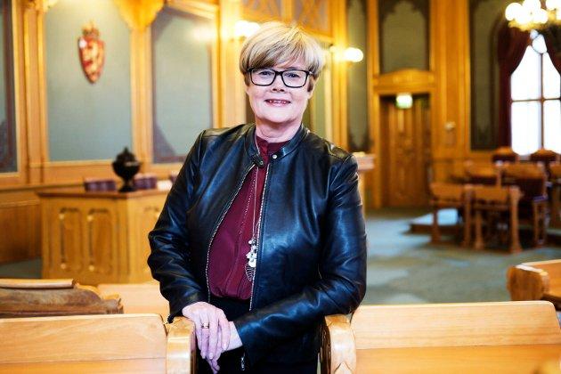 INNSTEMME: Kristin Ørmen Johnsen, stortingsrepresentant for Høyre fra Buskerud, ber Aps Masud Gharahkhani dempe stemmen i integreringsdebatten.
