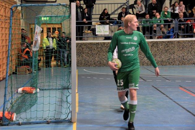 FORSTERKNING: Preben Røren kom fra 3. divisjon og Vestfossen for å spille sammen med sine kamerater i Haugfoss. Han slapp dermed å bytte draktfarge.