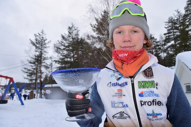 Suveren vinner i 15-årsklassen, Mats Hval fra Mjøndalen