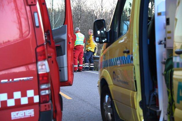 Motorsykkelulykke på fylkesvei 120.