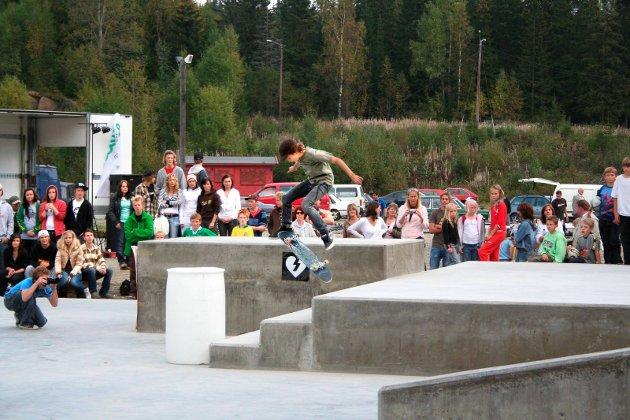 Åpning av skatepark på Flateby