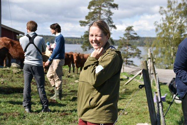 Merete Jacobsen har lånt ut gården til filmteam og skuespillere.