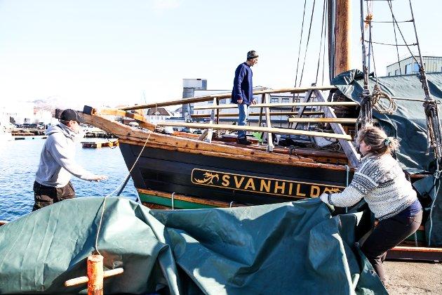 Hiv o' hoi! Det er vår, og vinterkleda må av. Dugnadsgjengen i Svanhilds Venner tar tak.