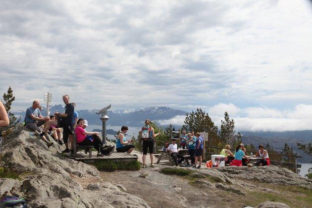 Flott på toppen av Brandsøyåsen i dag!