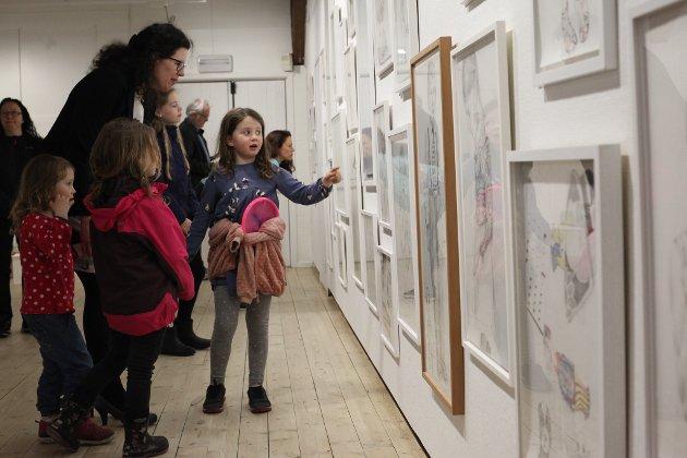 "Torsdag kveld opna ""Kunst for kidz"" på Kystmuseet."