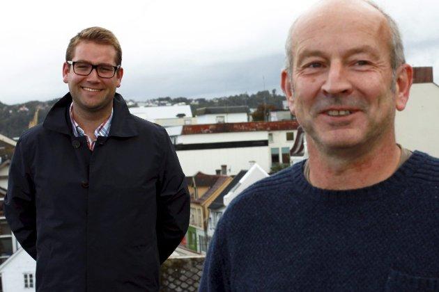 TIL SAMLING:  Samlingslista skal vere ein positiv faktor i arbeidet med å skape Kinn kommune, lovar dei profilerte listetoppane Hilmar Eliasson og Jacob Nødseth.