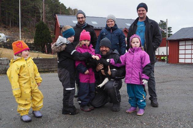 Minigruppa: Jonathan, Liva, Vilde og Alva (Tilde var ikkje med på bildet).