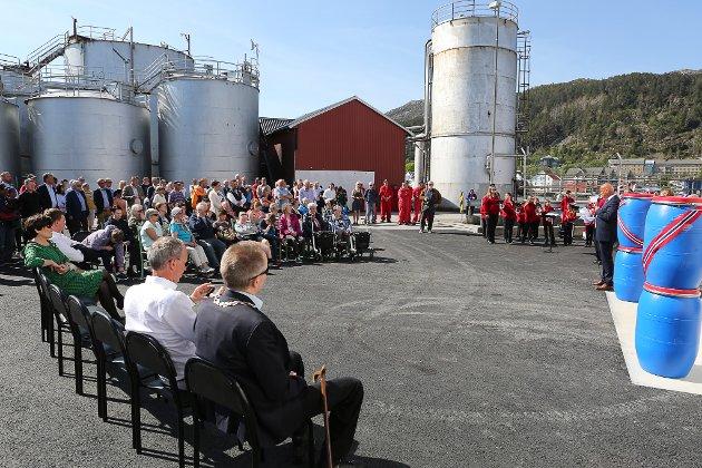 Opning av ny fabrikklinje  i Pelagia Kalvåg og nytt kjølelager for sildetønner.