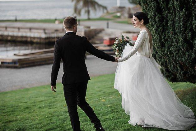 Ida Reksten og Børge Folkestad, gifte i Balestrand i april.