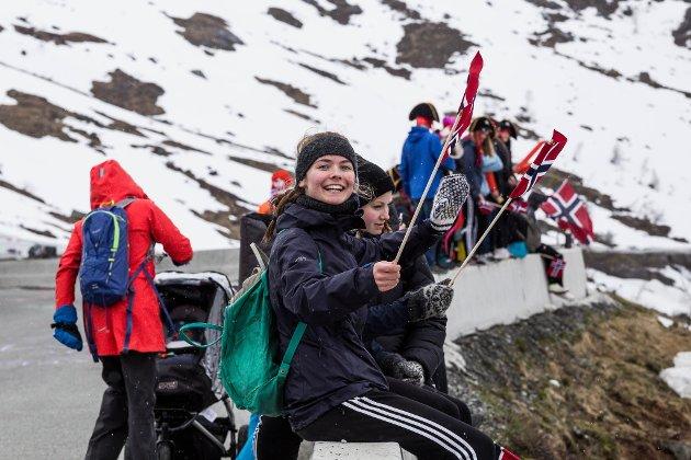 Tour des Fjords på Utsikten på Gaularfjellet.